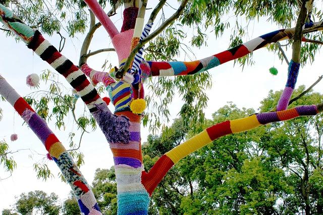 Le Yarn Bombing ou tricot urbain qu'est-ce que c'est ?