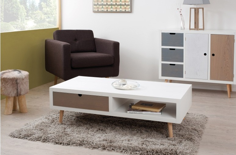 A la mode scandinave le blog d co destock meubles for Table salon style scandinave