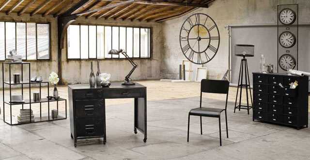 La d co l industriel le blog d co destock meubles - Deco style industriel ...