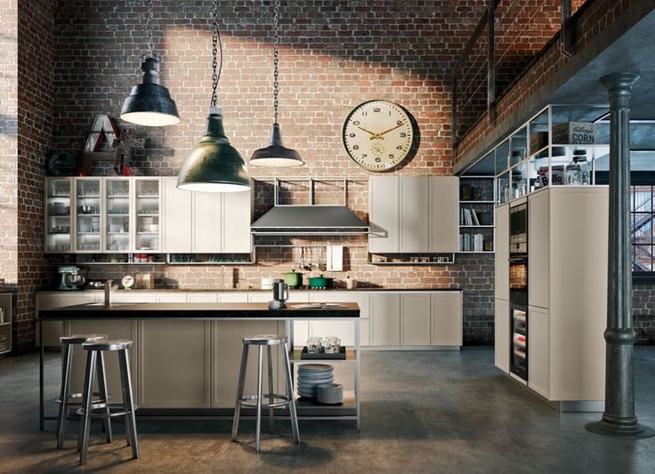 Awesome Cuisine Style Loft Industriel Contemporary .