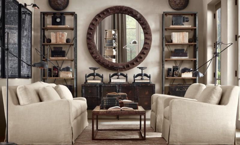La d co l industriel le blog d co destock meubles - Salon style industriel ...
