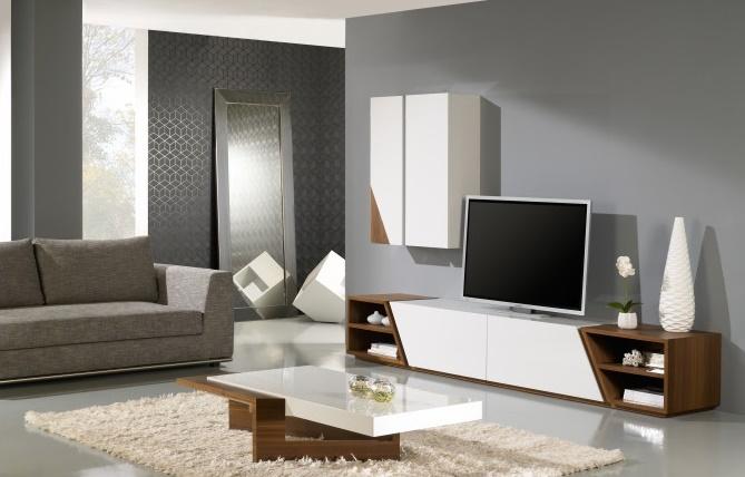 Table basse design plateau laqué blanc