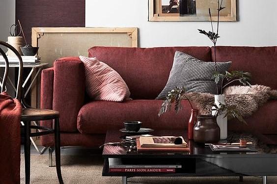 Le blog d co destock meubles le meuble a sa r f rence - Salon couleur bordeaux ...