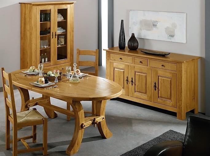 Table ovale chêne 1 allonge