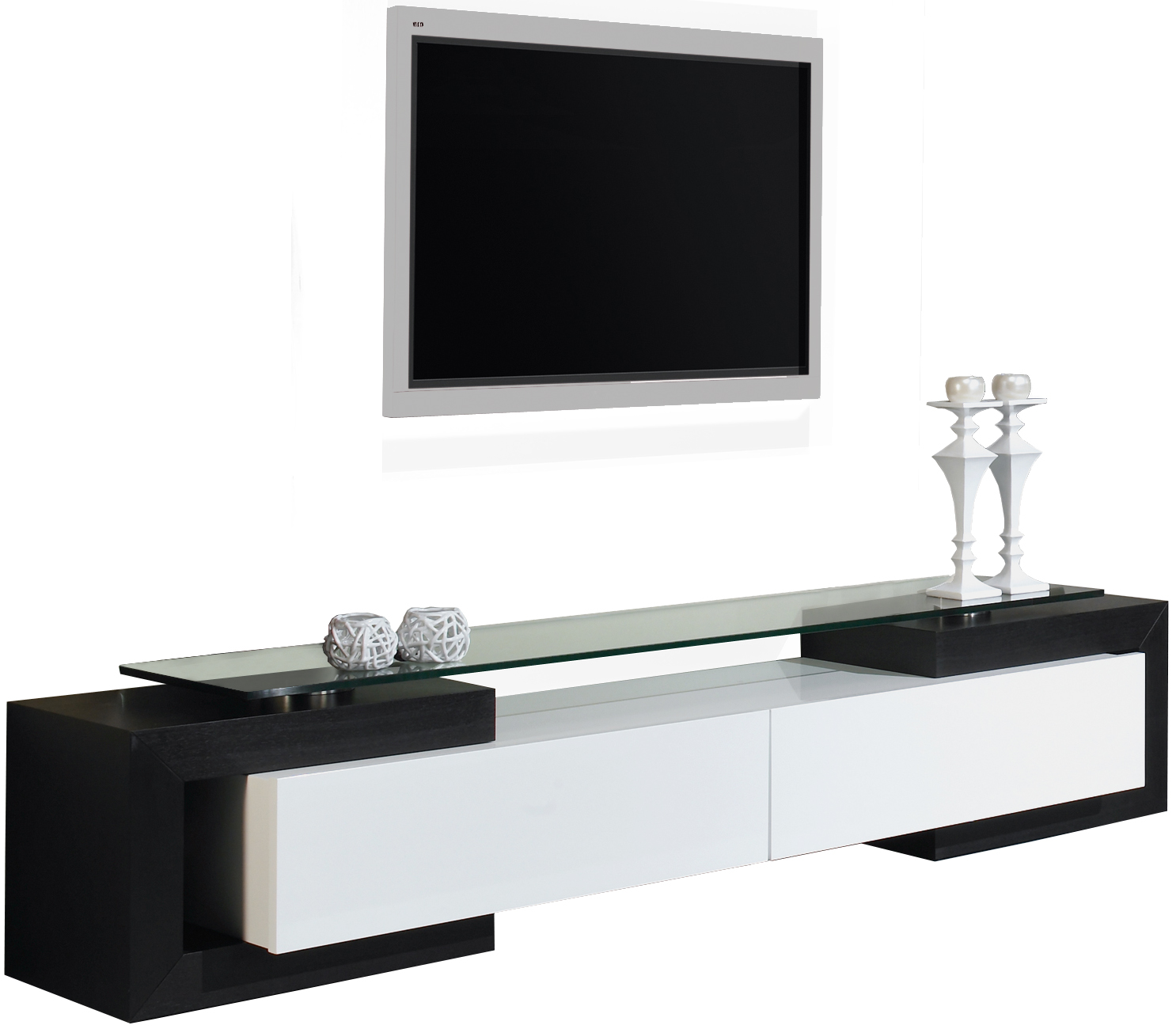 banc tv blanc laque led solutions pour la d coration. Black Bedroom Furniture Sets. Home Design Ideas