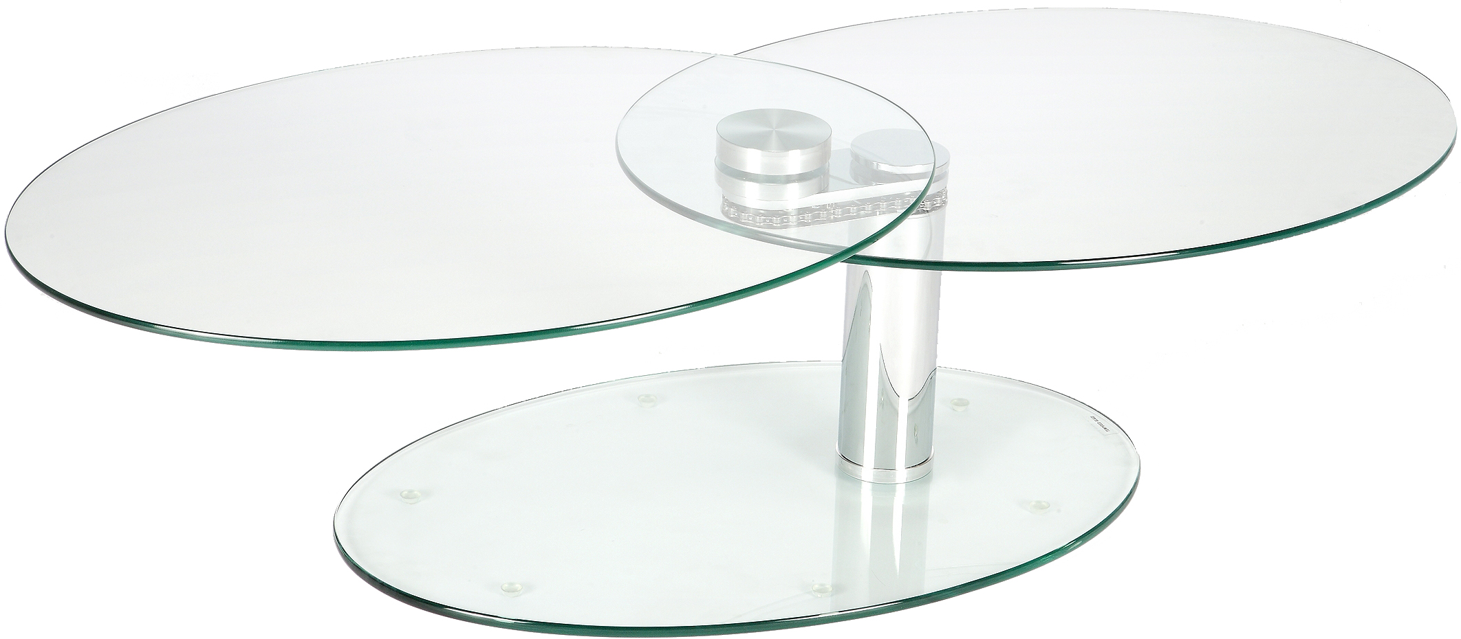 Table basse verre ovale articulee - Table basse ovale en verre ...