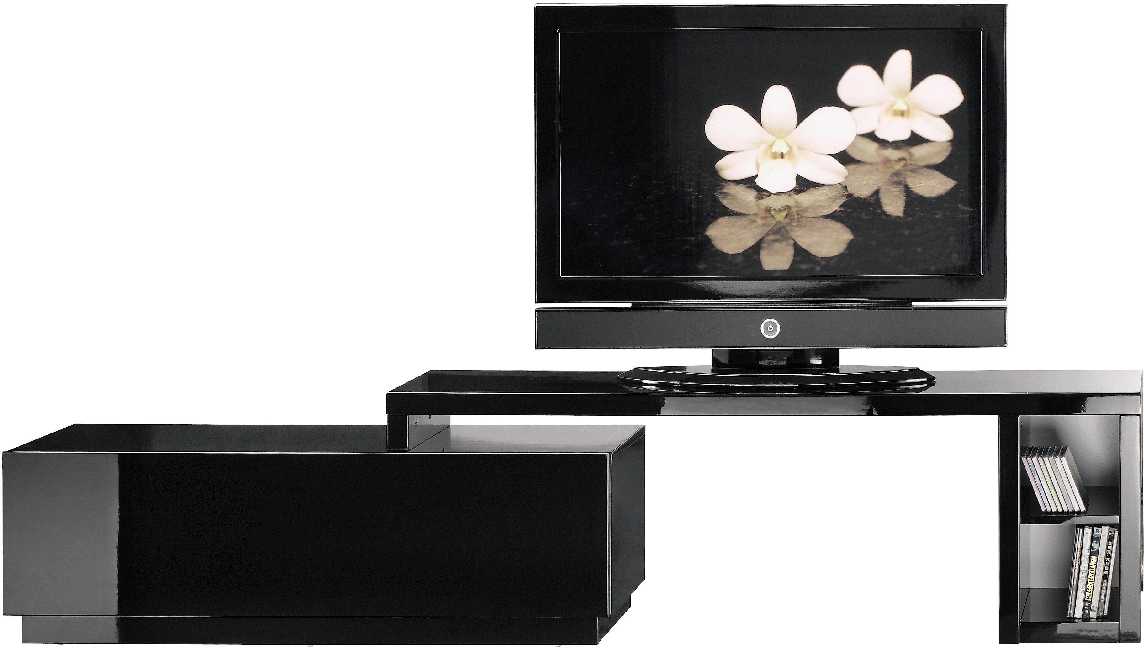 good meuble tv laque blanc pivotant tv meuble tv noir pivotant u meuble tv noir pivotant with. Black Bedroom Furniture Sets. Home Design Ideas