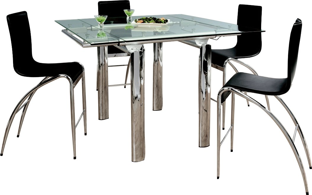 Table haute de cuisine pas cher ensemble table u0026 2 for Table extensible cuisine
