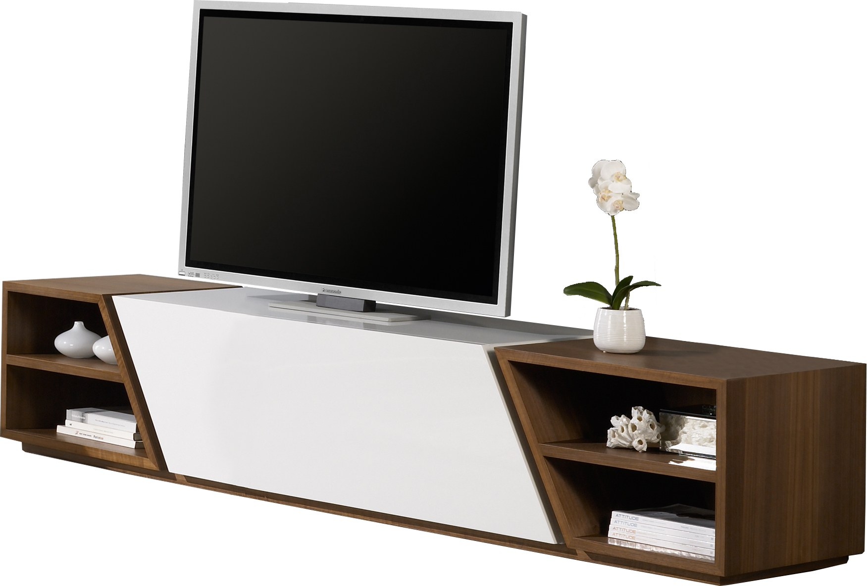 meuble tv blanc noyer blanc noyer trouvez blanc noyer parmis nos meubles de television. Black Bedroom Furniture Sets. Home Design Ideas