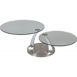 Plateaux Table Verre Design Basse Ronde Pivotants kZXiuOP