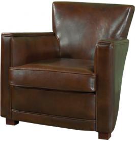1039 - Fauteuil club droit Clifton cuir basane brun