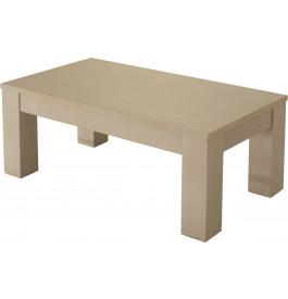 10443 - Table basse chêne blanc pierre