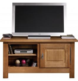 10650 - Meuble TV-Hifi chêne massif 1 niche 1 porte
