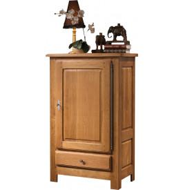 10655 - Petite bonnetière chêne massif 1 porte 1 tiroir