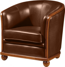 fauteuil cabriolet cuir basane chocolat. Black Bedroom Furniture Sets. Home Design Ideas