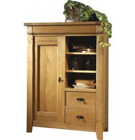 10835 - Bahut 1 porte 2 tiroirs chêne