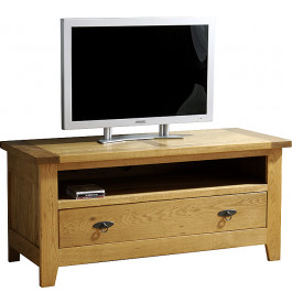 10848 - Meuble TV plasma LCD - Hifi 1 niche 1 tiroir chêne