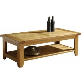 10851 - Table basse double plateau chêne
