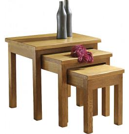 10857 - Tables gigognes chêne
