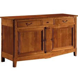 10929 - Buffet merisier 2 portes 3 tiroirs