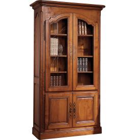 11060 - Bibliothèque merisier 2 portes