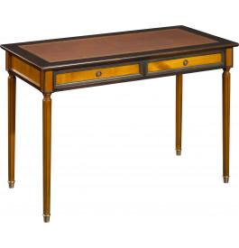 11354 - Table d'écriture merisier pieds Louis XVI
