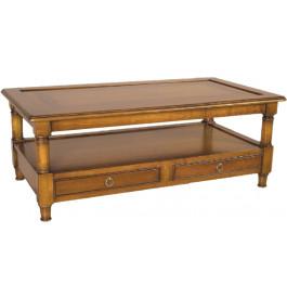11366 - Table Basse double plateau 2 tiroirs