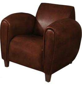1142 - Fauteuil club British Style Modus cuir basane Cognac