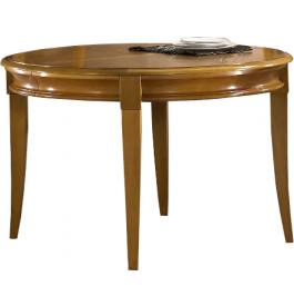 11453 - Table ronde chêne 4 pieds sabre