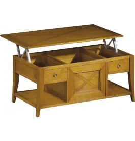 11471 - Table bar chêne plateau escamotable