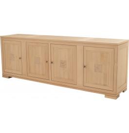Buffet 4 portes 4 tiroirs chêne
