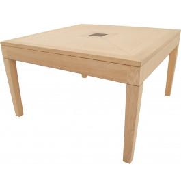 11666 - Table carrée chêne L130