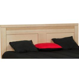 Tête de lit chêne massif naturel décor cannelé pour lit 140