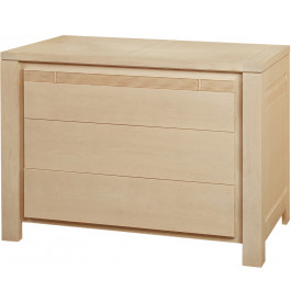 11795 - Commode chêne naturel 3 tiroirs décor cannelé