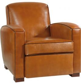 fauteuil club rond pulmar cuir basane miel. Black Bedroom Furniture Sets. Home Design Ideas