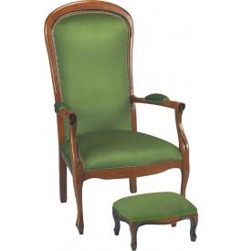 1280 - Fauteuils Voltaire velours vert (x2)