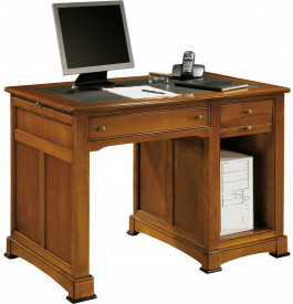 petit bureau informatique 3 tirettes 1 niche 2 tiroirs. Black Bedroom Furniture Sets. Home Design Ideas
