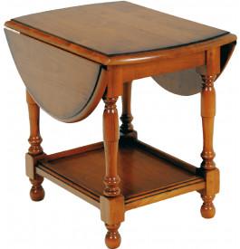 1291 - Table basse merisier 2 abattants