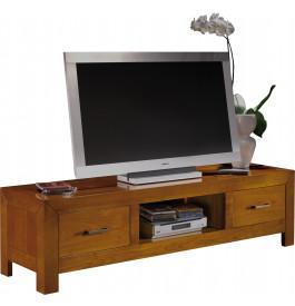 13058 - Banc TV-Hifi 1 niche 2 tiroirs