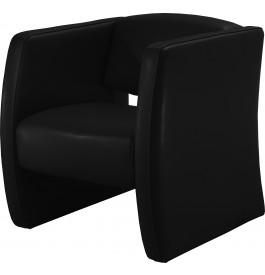 13256 - Fauteuil cuir moderne Soren noir