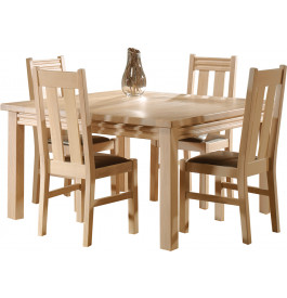 13441 - Table carrée chêne naturel L135