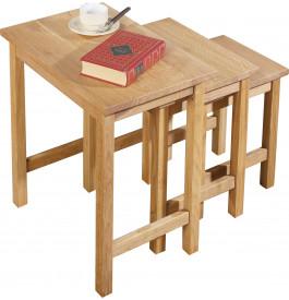 13504 - Tables basses gigognes chêne clair