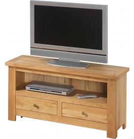 13507 - Meuble TV -Hifi LCD Plasma chêne clair 2 tiroirs 1 niche
