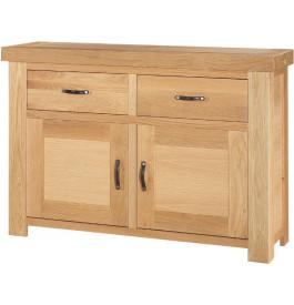 13531 - Buffet chêne clair contemporain 2 portes 2 tiroirs