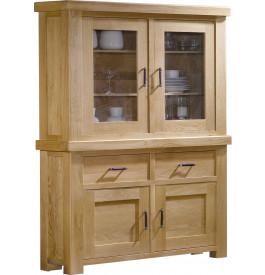 buffet vaisselier ch ne clair contemporain 2 corps. Black Bedroom Furniture Sets. Home Design Ideas