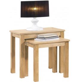 13562 - Tables gigognes chêne clair contemporain