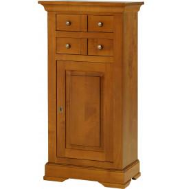 13579 - Confiturier 4 tiroirs 1 porte merisier massif