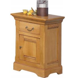 13611 - Chevet chêne doré 1 porte 1 tiroir