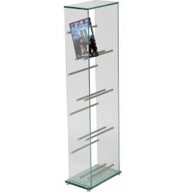 1362 - Range DVD verre et aluminium