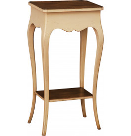 Table de t l phone beige double plateau pieds galb s - Table de telephone ...